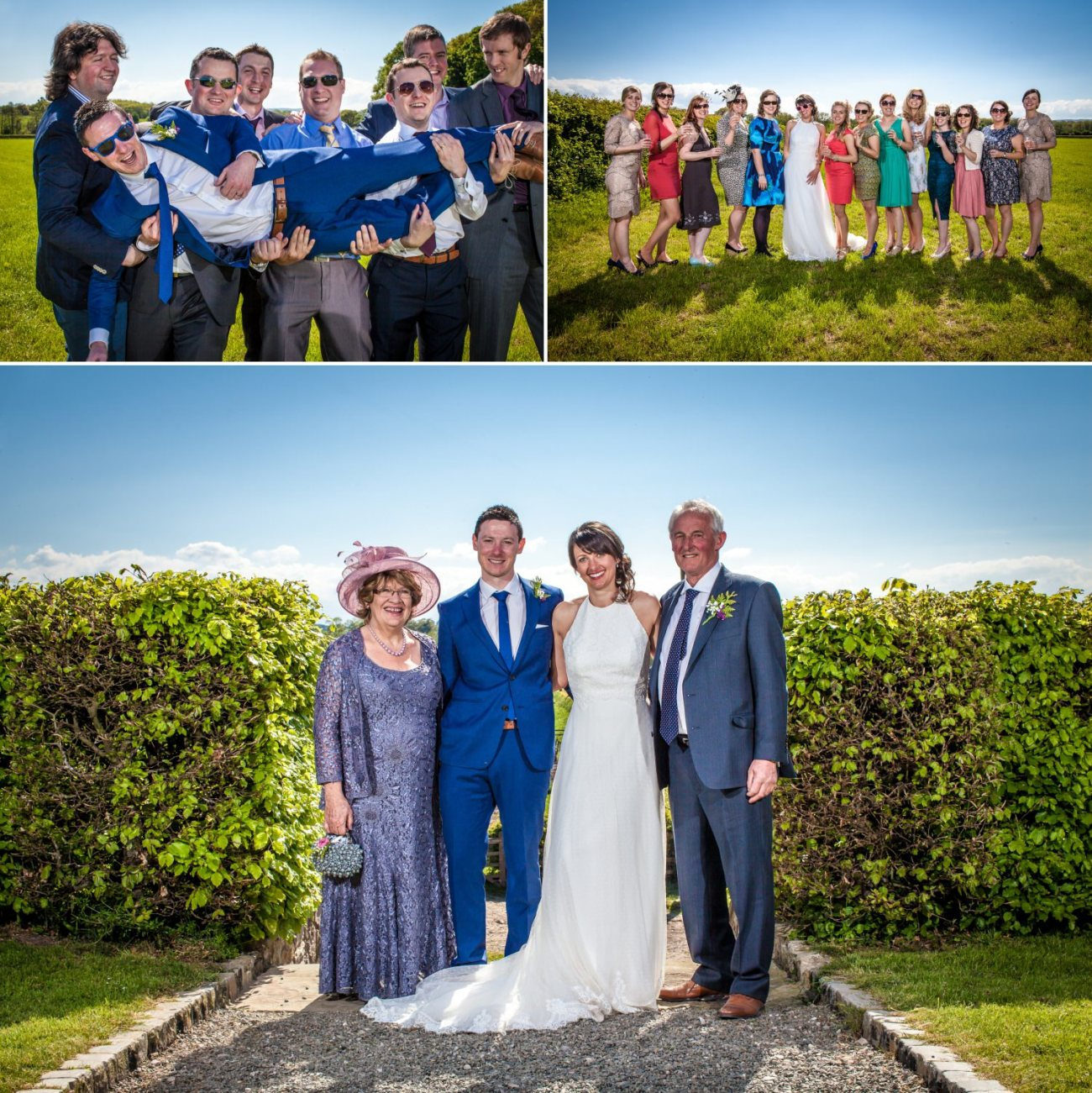 wedding photography of formal photographs north wales