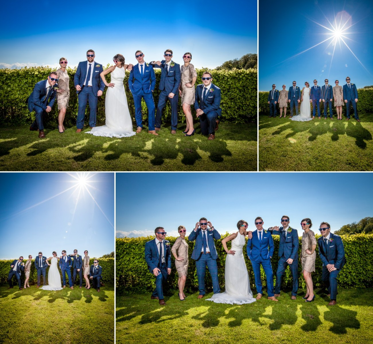 wedding photography of bridal party north wales