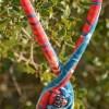 les Intemporels- ENTRELACS ENSOLEILLES – détail 1-printemps été- Coton, velours perles cristal swarovski –fermoir crochet-41 cm