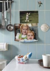 Historisch interieur; babyfoto koninklijke familie