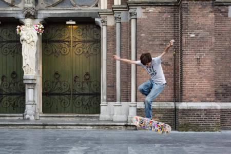 Open Monumentendag; skateboarder gavin