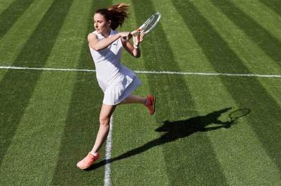 Alizé Cornet wearing Lacoste at Wimbledon 2017