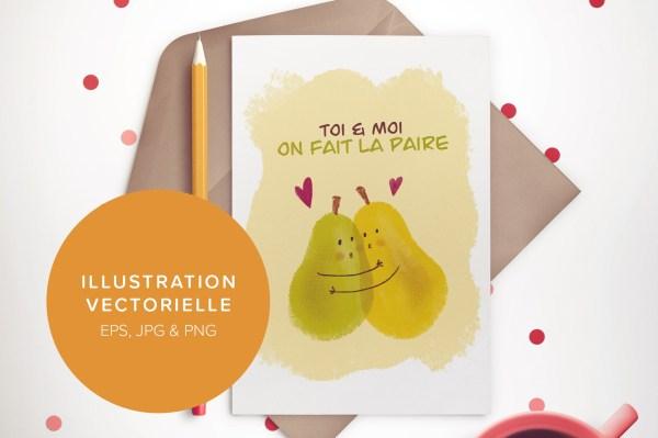 Paire de poires - Illustration