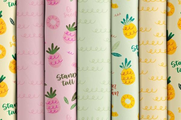 Ananas en folie - Collection de motifs 2