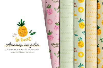 Ananas en folie - Motifs en raccord