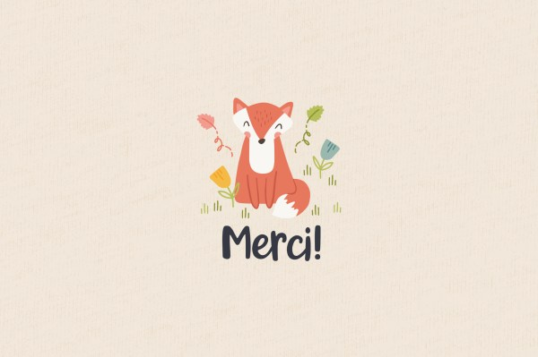 Woodland and Blossoms - Merci !