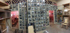 Customer picture wall in the production area.
