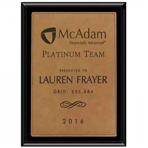 P80073 Wood plaque Marietta Trophy