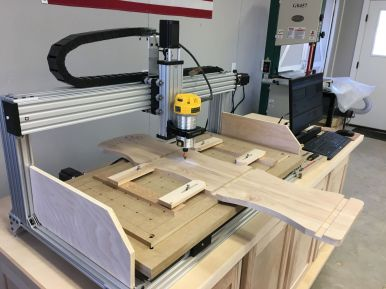 Binocular Rack in the CNC Router