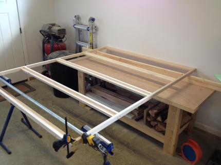 The bed platform was assembled first