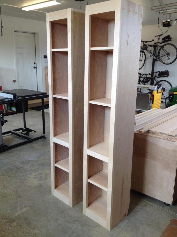 Side cabinets assembled