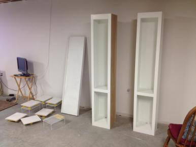 Side cabinets in the paint shop