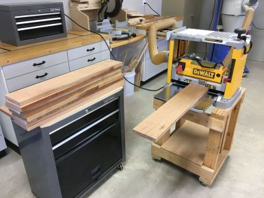 Final Milling of Cherry Drawer Fronts