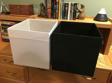 IKEA Drona Fabric Covered Bins