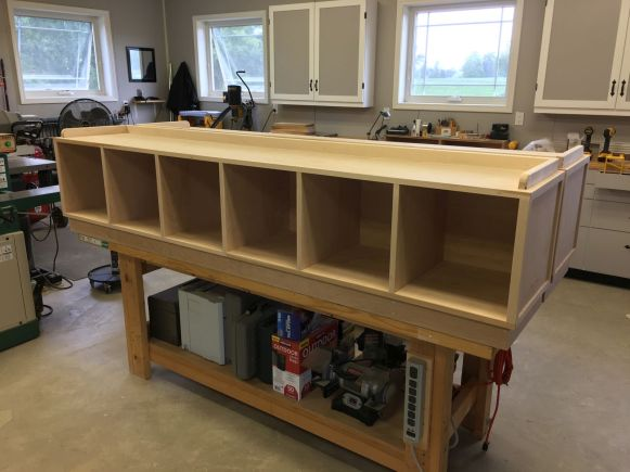 Completed Storage Benches