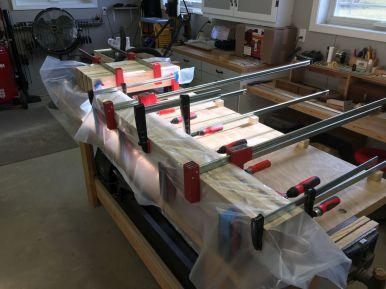 Long stretcher glue up