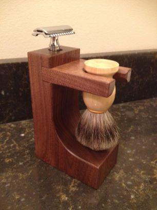 Walnut Shaving Holder