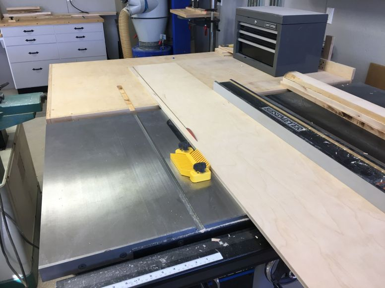 Ripping panels to width