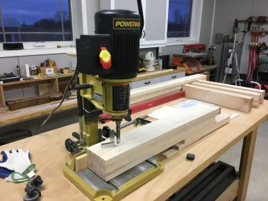 Cutting leg mortises with a dedicated mortiser