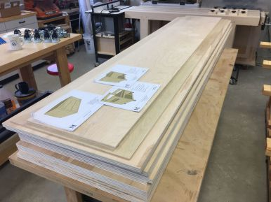 Initial plywood breakdown with track saw