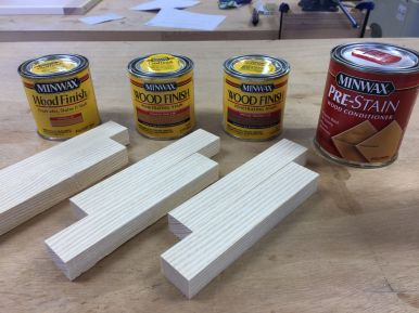White ash coupons for stain samples