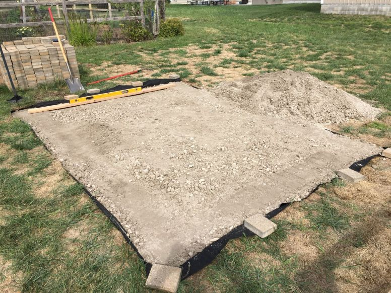 Leveling Gravel Bed