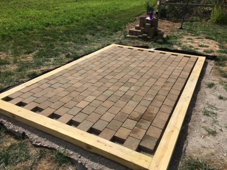 Full Pavers Installed