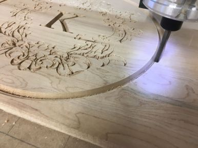Machining Medallion Artwork