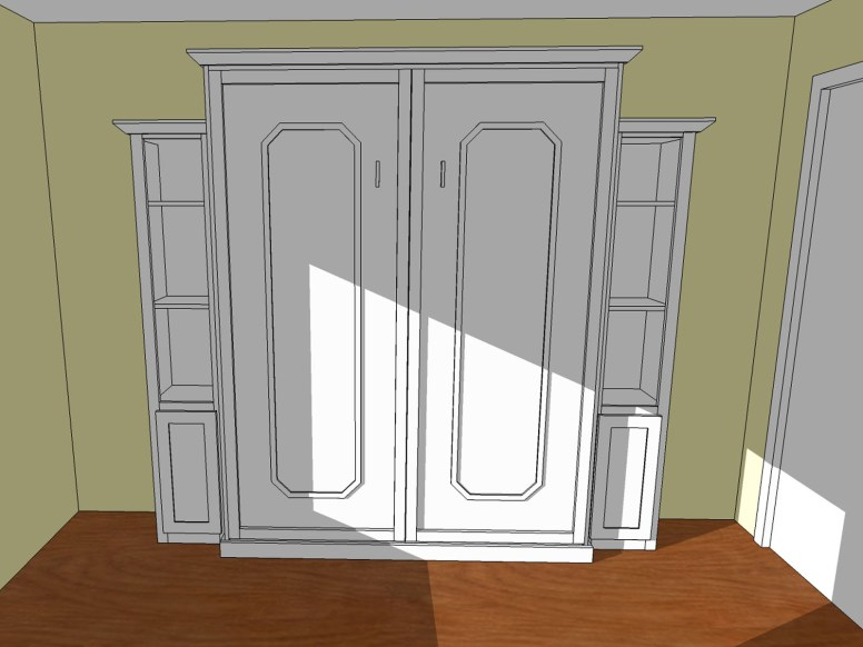 A 3D SketchUp design was created based on the plans included with the hardware kit
