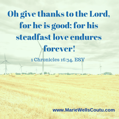 Give thanks to the Lord!