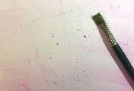 op papier schilderen