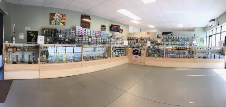 The inside of our retail location is bright and open! No crowding! Fast, streamlined service for all your canna-needs!