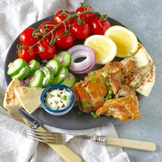 Spicy Mediterranean Chicken with creamy feta sauce