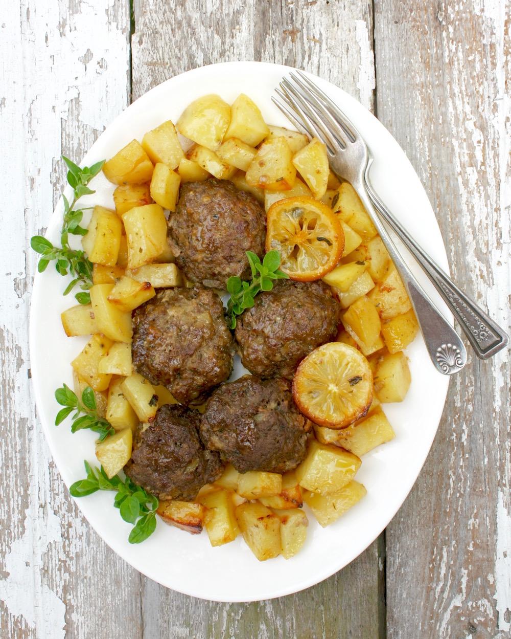 traditional Greek meatballs