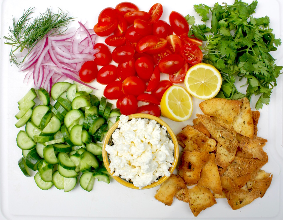 ingredients for chopped salad