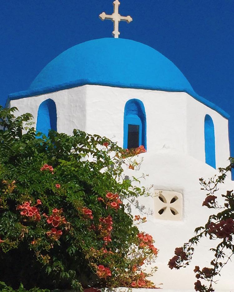 Greek Island Light - Church, Paros