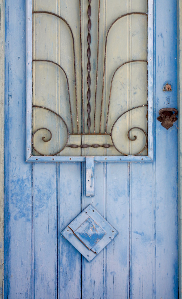Doors of the Greek Islands - blue door