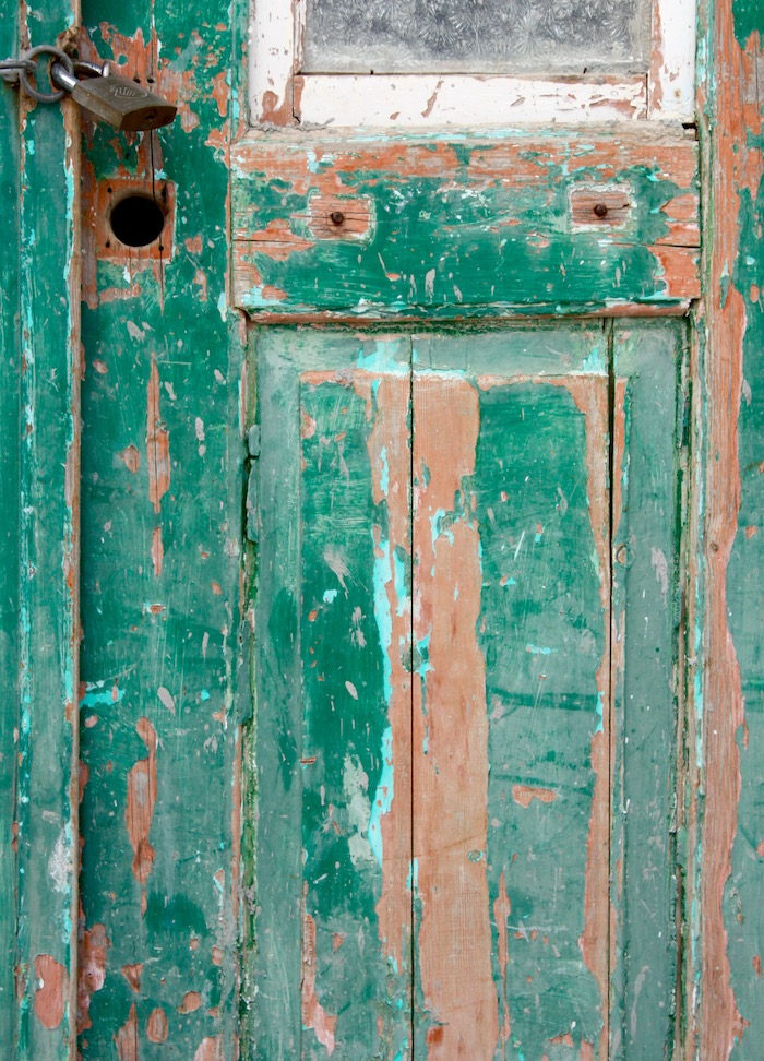 Doors of the Greek Islands - green door