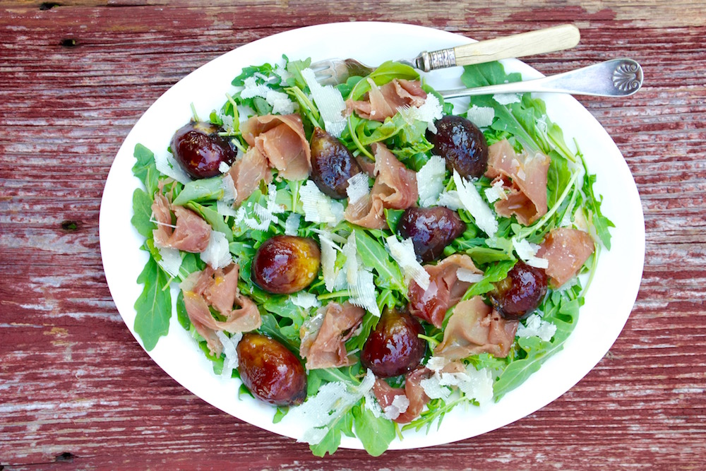 Arugula Salad with Fresh Figs and Prosciutto