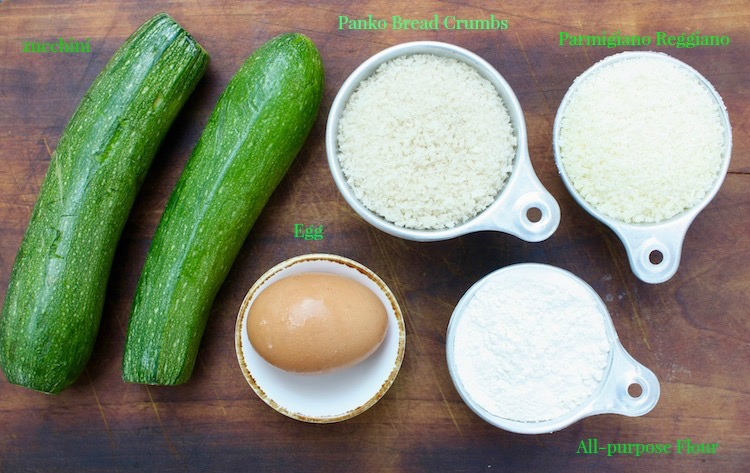 Ingredients for Easy Zucchini Fries