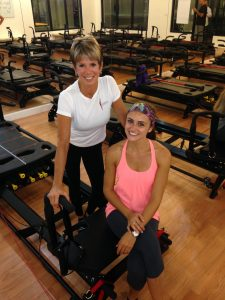 Marilyn and Marina Perrone celebrate the opening of the new Lagree Fitness studio in Boca Raton