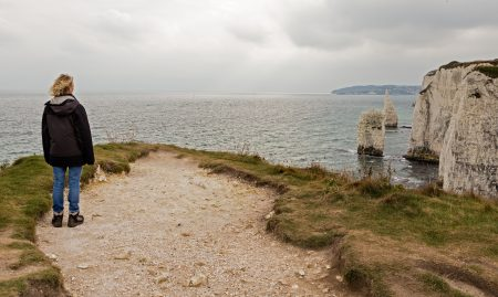 Towards Swanage from Old Harry rocks