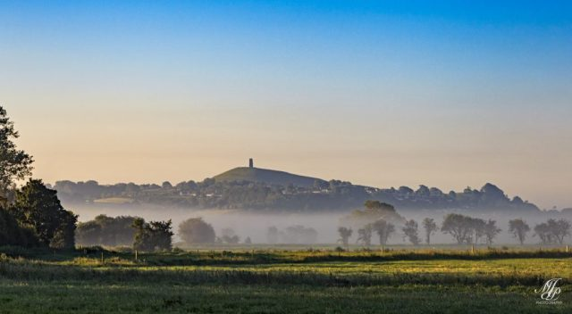 View across to Glastonbury Tor from Godney