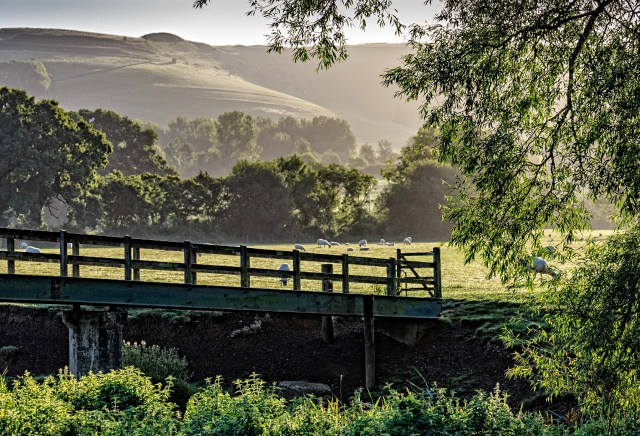 View of early morning light from the Haines-Wilson bridge Shillingstone