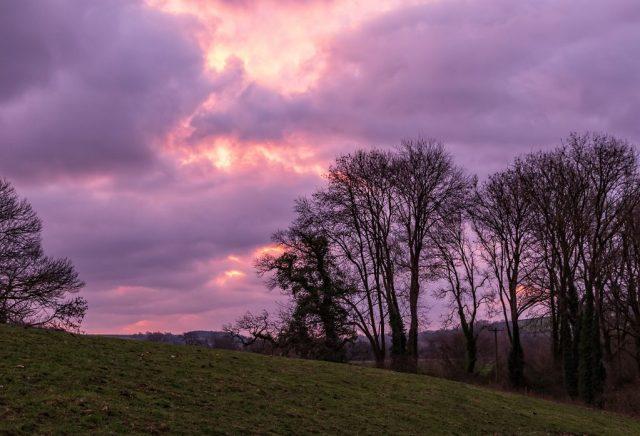 Before sunrise near Little Hanford