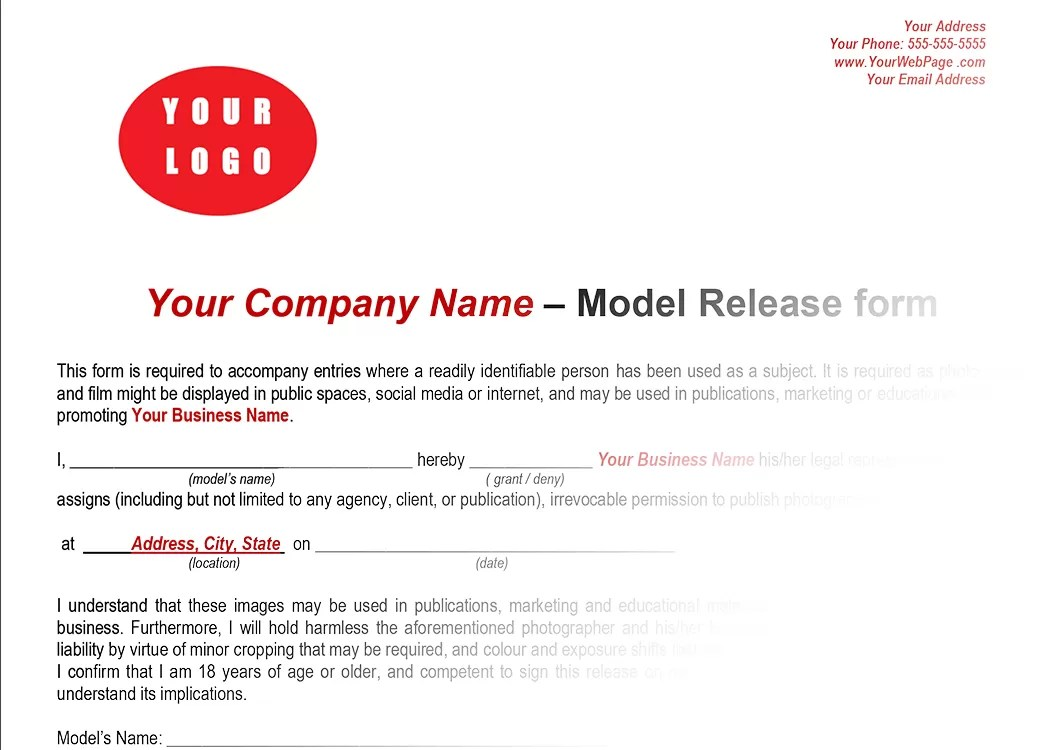 Do You Have To Sign A Model Release Giving Permission To Use Your Photos?