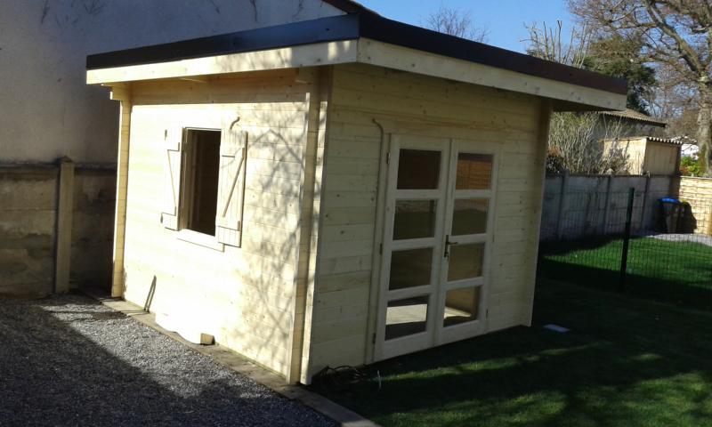abri de jardin toit plat 9 m epaisseur 40 mm