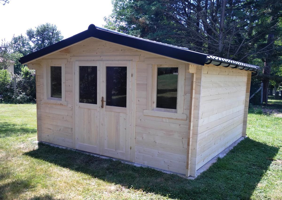 abri de jardin en bois eco 16 m madriers 40 mm