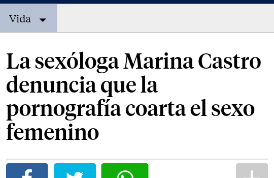 La vanguardia Marina Castro