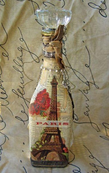 Ideas de decoupage en botellas (15)